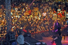 A sea of people enjoy the sounds of their favorite band, Folk Stone, in  Cagli. Photo: Agnes Poliquin